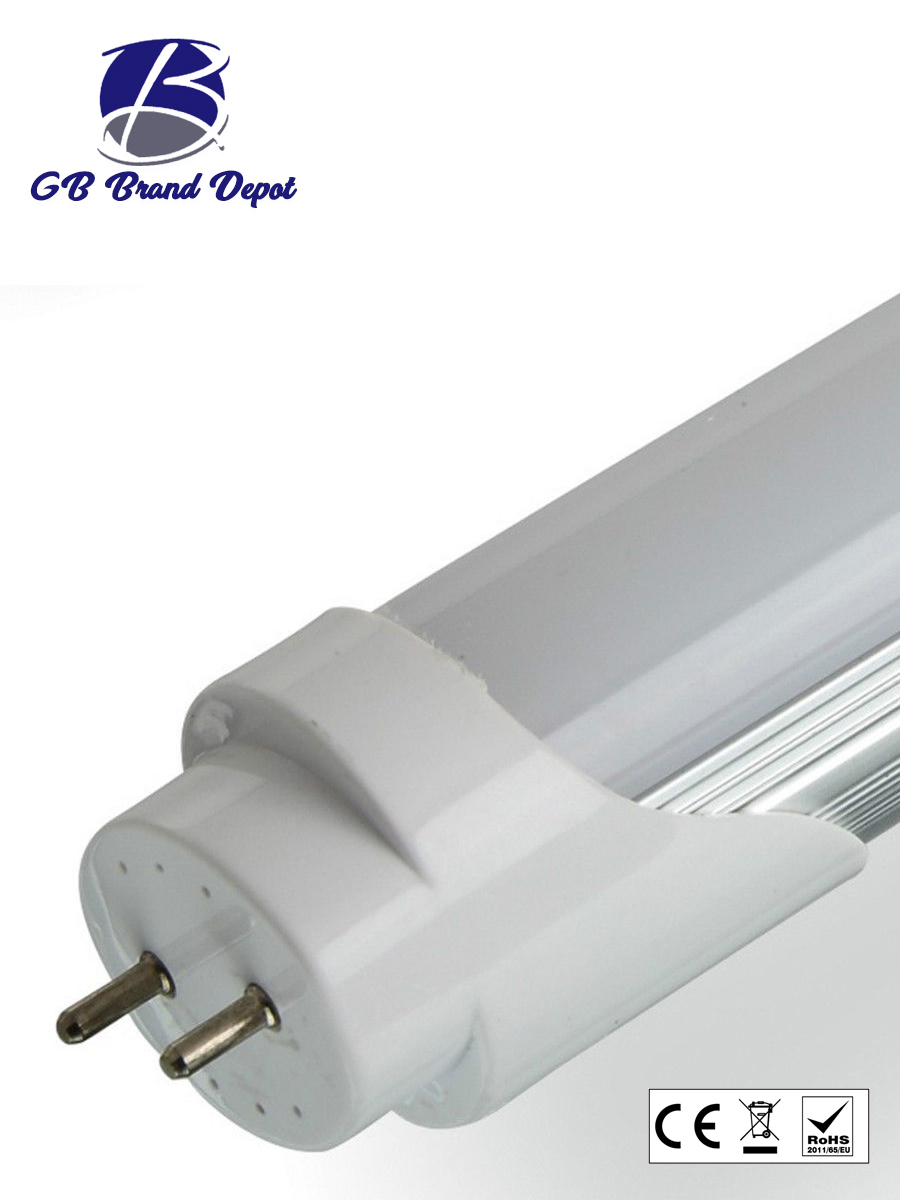 led t8 tube light 5ft 6ft retrofit fluorescent replacement milky cover. Black Bedroom Furniture Sets. Home Design Ideas